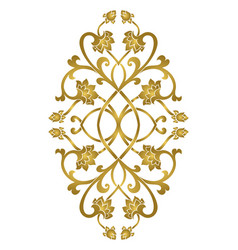 Floral medallion for design vector
