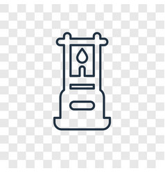 gas concept linear icon isolated on transparent vector image