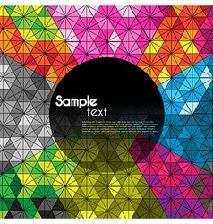 Geometric shape backgrounds vector