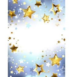 Golden Stars on a Light Background vector