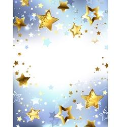 Golden Stars on a Light Background vector
