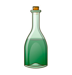 Green bottle icon cartoon style vector