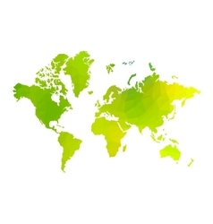 green triangle world map vector image