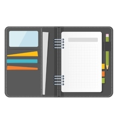 Grey notebook organizer vector