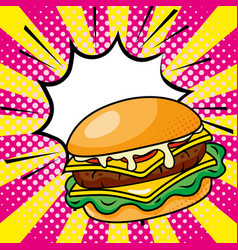Hamburger icon cartoon vector