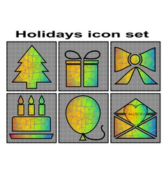 holidays icon vector image vector image