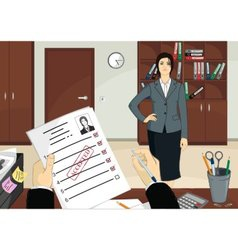 HR - the ideal candidate accepted vector