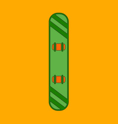 Icon in flat design snowboard vector