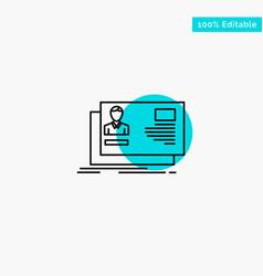 Id user identity card invitation turquoise vector