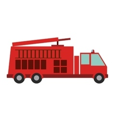 Isolated fire truck vehicle design vector
