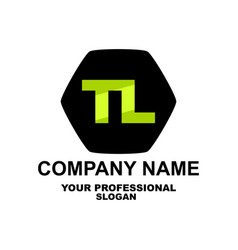 letter logo two letters t and l vector image