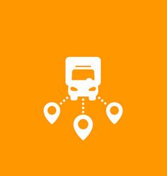 Logistics delivery service icon vector