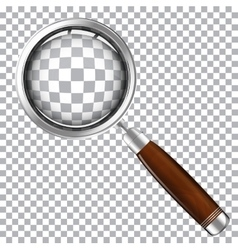 magnifying glass with wooden handle vector image