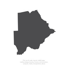 map botswana isolated black vector image