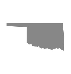 map of the us state of oklahoma vector image