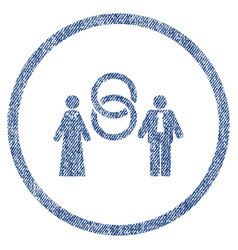 marriage persons rounded fabric textured icon vector image
