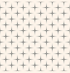 Monochrome seamless pattern texture dotted crosses vector