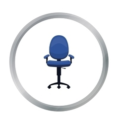Office chair icon in cartoon style isolated on vector