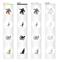 olympics achievement win and other web icon in vector image