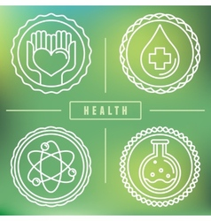 outline logos - healthcare and medicine vector image
