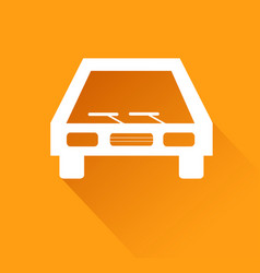 parking graphic design on orange background with vector image
