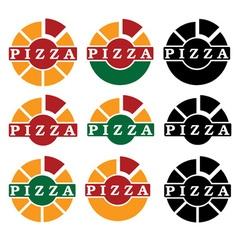 pizza set design template vector image