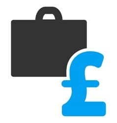Pound Accounting Flat Icon Symbol vector