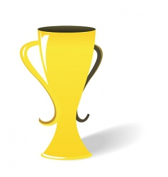 prize gold cup vector image