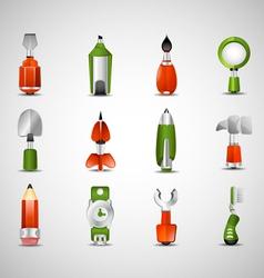 Random icons vector image