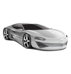 realistic grey car sport 3d on white background vector image