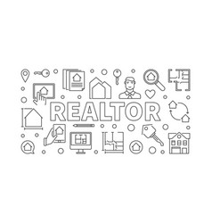 Realtor concept horizontal in vector