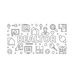 Realtor concept horizontal vector