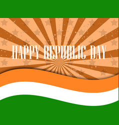 republic day india celebration background with vector image