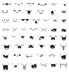Set of 52 different pieces doddle emotions to vector