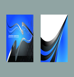 set of vertical business card vector image