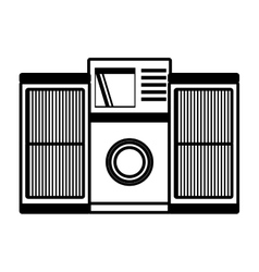 tape recorder mp3 music home appliance outline vector image