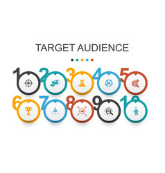 Target audience infographic design template vector