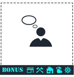 thought icon flat vector image