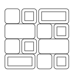 Tile the black color icon vector