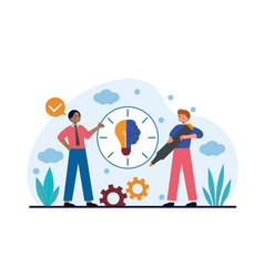 time of creativity or hour of genius vector image