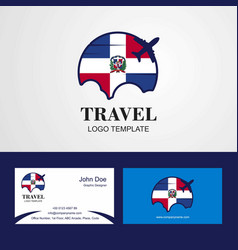 Travel dominican republic flag logo and visiting vector