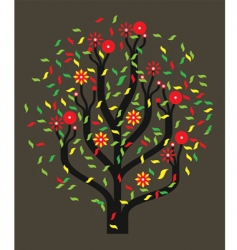 Tree with colour leaves vector