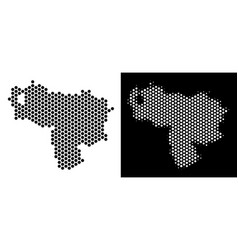 Venezuela map hex-tile mosaic vector