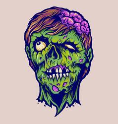 vintage zombie horror vector image