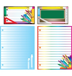 educational business cards vector image vector image