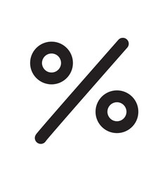 percent icon on white background percent sign vector image