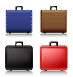 Suitcase set vector image vector image