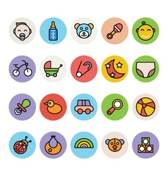 Baby Icons 1 vector image