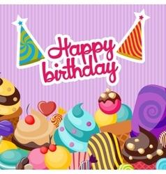Happy Birthday Composition vector image