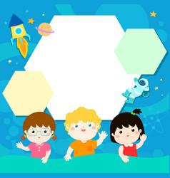 happy children xaon universe background vector image vector image